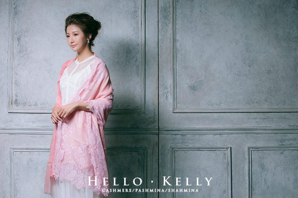 羊絨圍巾綴蕾絲品牌推薦