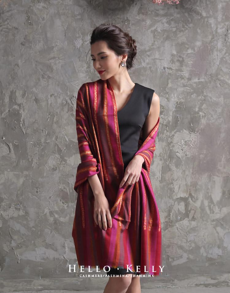 喀什米爾羊毛圍巾左手工刺繡披肩,結婚訂婚婚宴圍巾推薦!