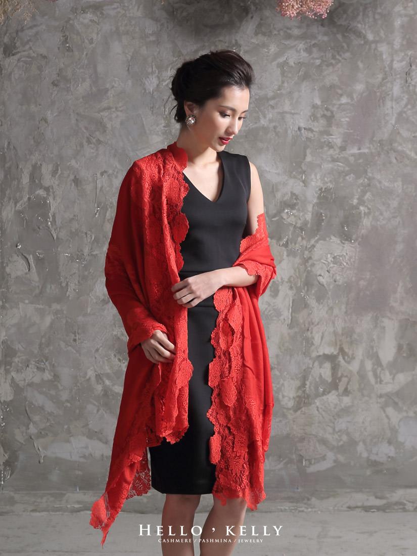 喀什米爾蕾絲羊毛圍巾披肩,結婚訂婚婚宴圍巾推薦!