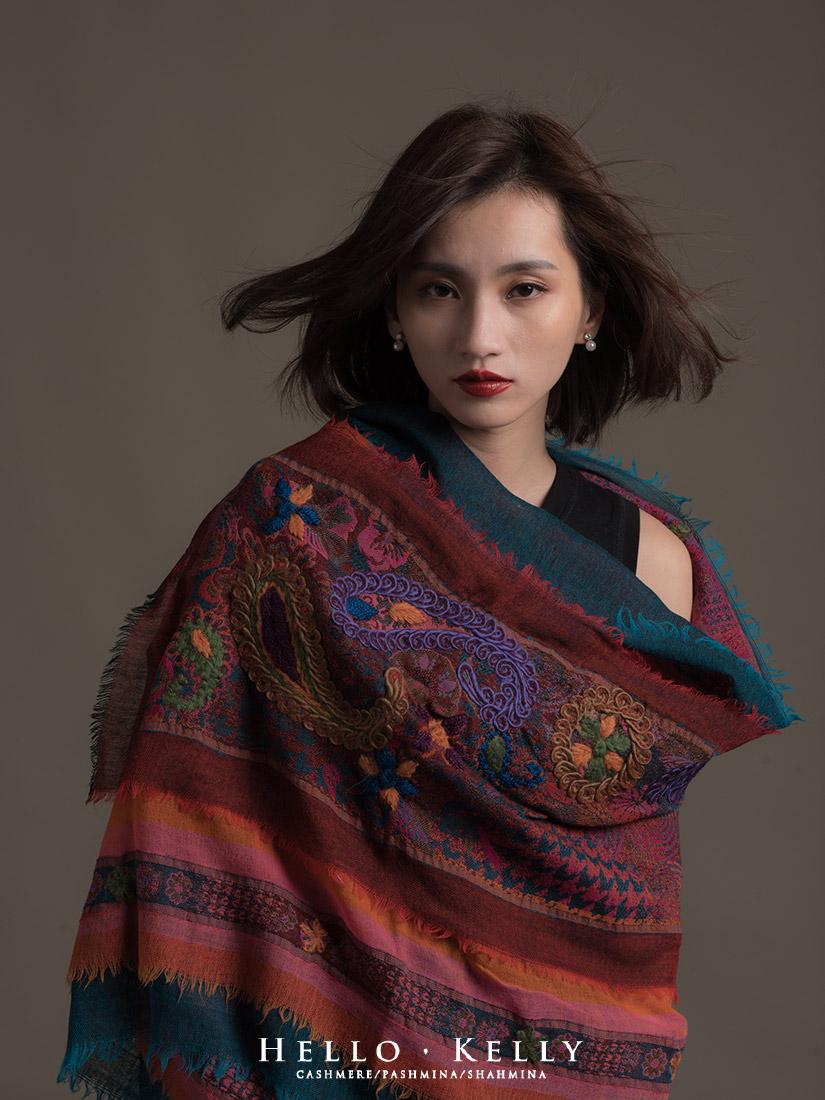 水煮羊毛圍巾披肩打法教學,來自印度尼泊爾冬天旅行禦寒保暖品牌推薦