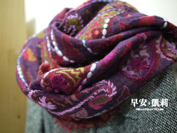 旅行秋冬圍巾穿搭-水煮羊毛披肩