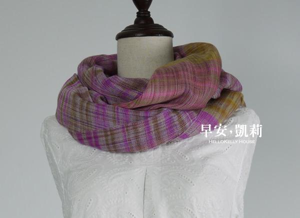 羊絨手織Pashmina圍巾披肩-