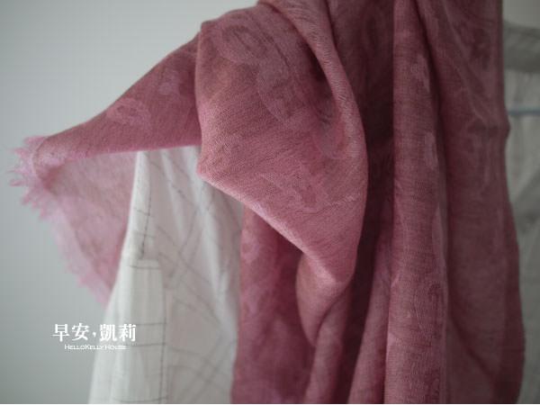 喀什米爾 圍巾- 花草紋Pashmina